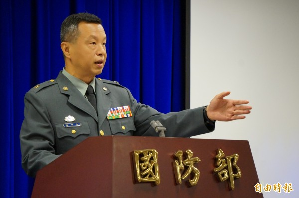 國防部發言人陳中吉。(記者涂鉅旻攝)