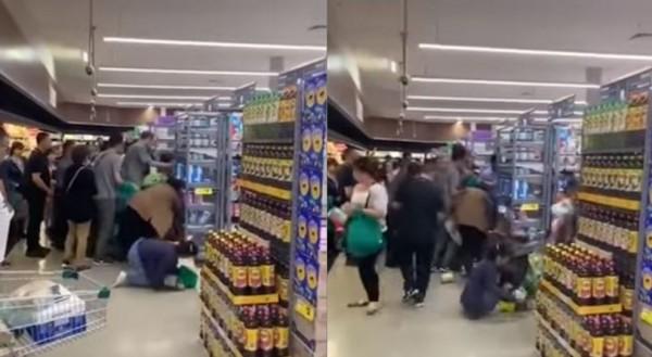 澳洲民眾對於中國人瘋搶配方奶粉的景象感到訝異,錄影PO網引發熱議。(圖擷取自影片)