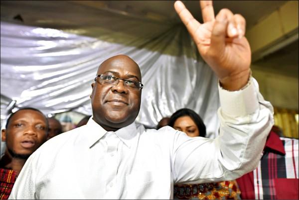 剛果民主共和國反對派領袖齊塞克迪意外當選總統。(路透)
