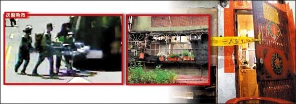 新北市無業41歲黃姓男子,不滿68歲父親不聽從他的命令,用鐵鎚活活打死老父;左圖為救護送醫照。(資料照,記者吳仁捷翻攝)