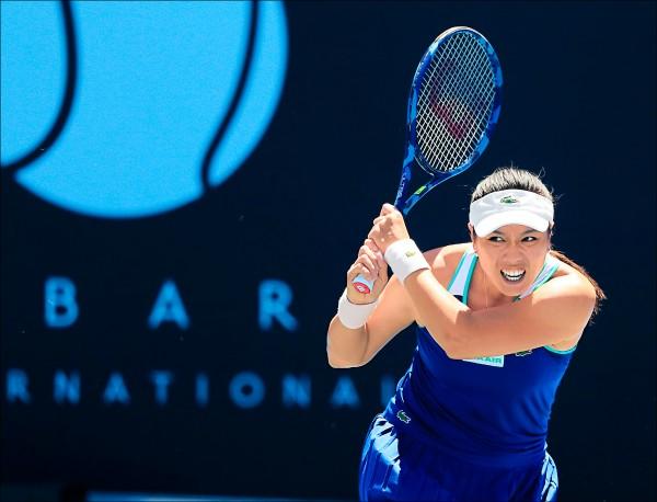詹家姊妹打進荷巴特女網決賽,今天爭冠;圖為姊姊詹詠然。(歐新社)