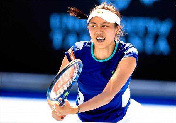 詹家姊妹打進荷巴特女網決賽,今天爭冠;圖為妹妹詹皓晴。(歐新社)