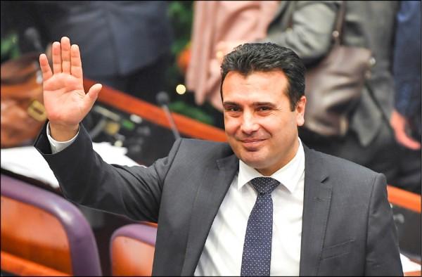 馬其頓中左派總理柴伊夫在投票前強調,為了國家進步,他不惜賭上政治生命。(歐新社)