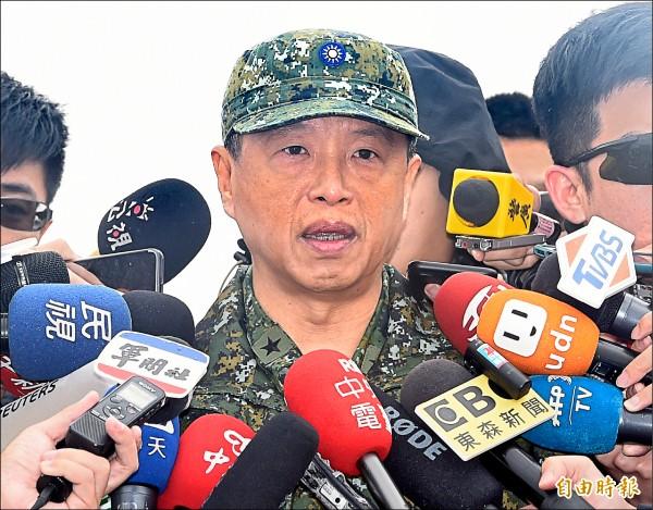 國防部發言人陳中吉表示,我國比任何國家更重視、關切中國敵情,並時刻都能掌握。而我國對於敵情毫不鬆懈、堅守崗位,「仗怎麼打,我們就在哪裡訓練」。(記者廖振輝攝)