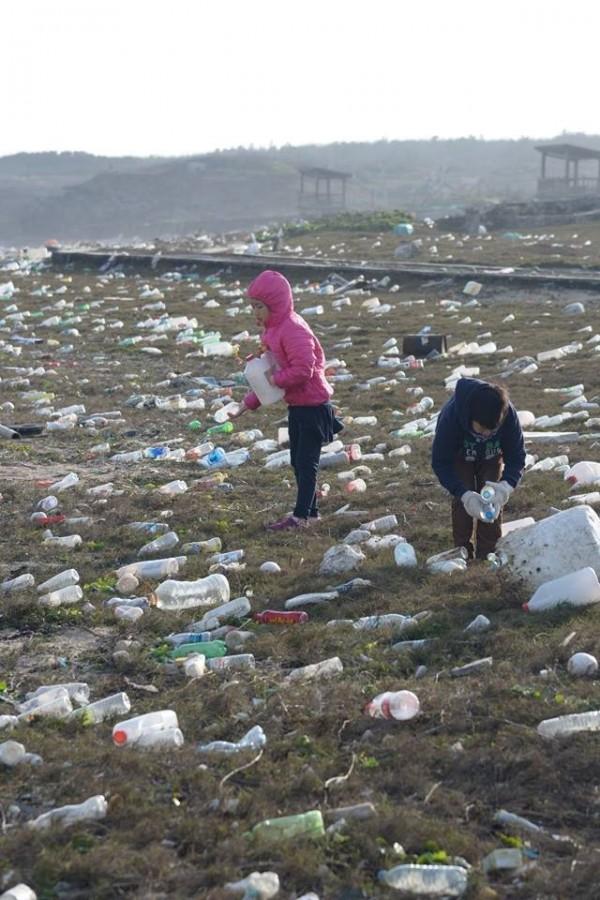 合橫國小盼民眾分享照片,讓更多人知道海漂垃圾問題的嚴重性。(圖擷取自合橫國小臉書)