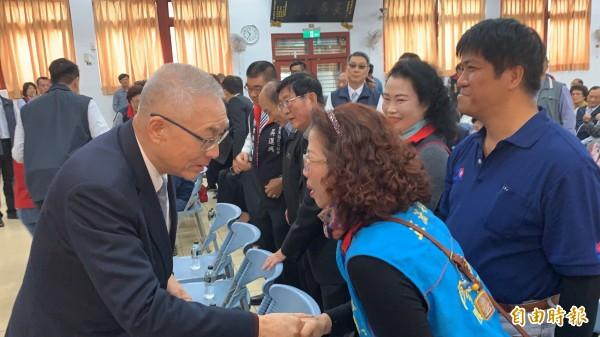 國民黨主席吳敦義到台東舉辦感恩茶會。(記者張存薇攝)