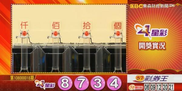 4星彩開獎號碼。(圖擷取自東森財經新聞)