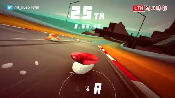 寿司がはしるやつ(奔跑吧壽司)的遊戲測試影片,短短幾天已突破300萬次觀看。(授權:mt_kuso)