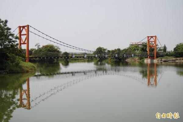 官田區葫蘆埤生態休閒公園。(記者楊金城攝)