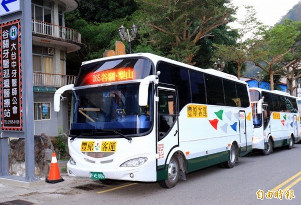 農曆春節期間,豐原客運將增加從谷關到梨山的865路公車班次。(資料照)