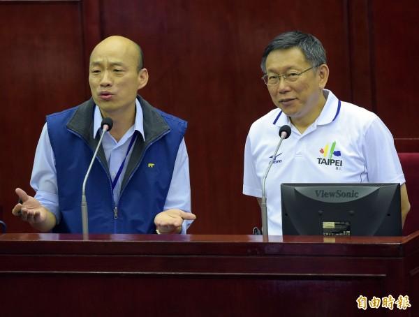 資深媒體人王瑞德向台北市長柯文哲和高雄市長韓國瑜的粉絲提告。(資料照)