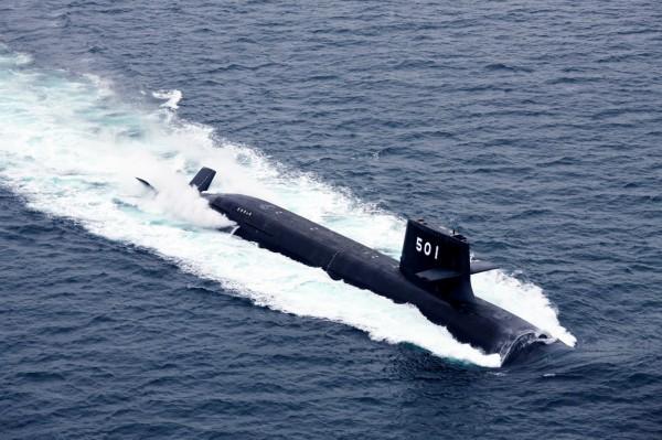 未來IDS造型可能就像縮小版的日本「蒼龍級」柴電潛艦。圖為蒼龍級潛艦。(圖擷取自日本海上自衛隊官方網站)
