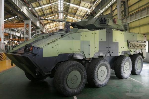 30公厘鏈砲雲豹8輪甲車。(軍聞社提供)