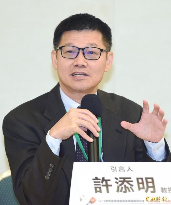 台灣師範大學教授許添明將回鍋出任國家教育研究院院長。(資料照,記者廖振輝攝)