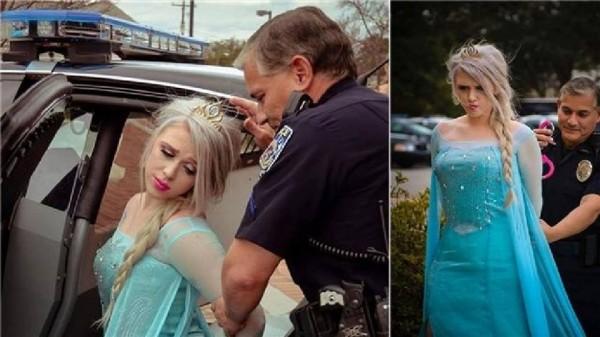 寒流重襲美國,伊利諾州麥克萊恩郡警察局透過臉書逗趣發文說,已經逮捕了《冰雪奇緣》公主艾莎。(圖擷取自臉書)