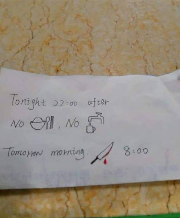 這張護士開給外籍學生的紙條,讓網友們都笑翻了。(圖擷取自Reddit討論區)