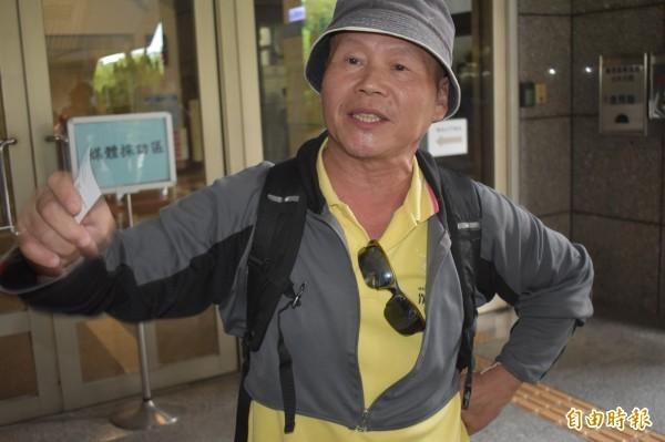 台中市黎明幼兒園園長林金連前往總統府內陳情,卻傳出在府內自殘。(資料照)