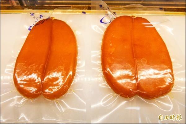 許多民眾年節均會購買烏魚子,在過年期間加以烹飪製成佳餚。烏魚子示意圖。(資料照)