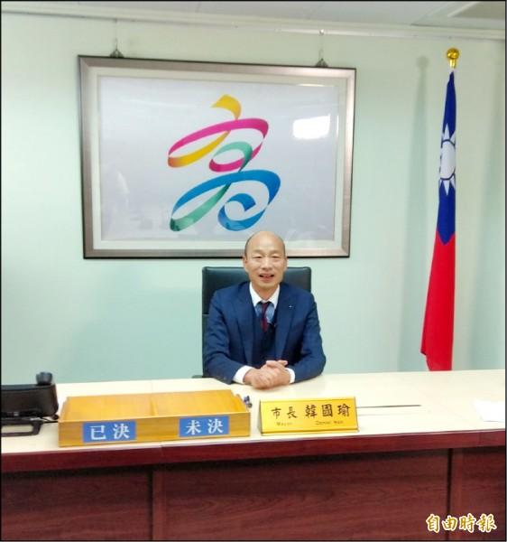 高雄市長韓國瑜。(資料照,記者洪定宏攝)