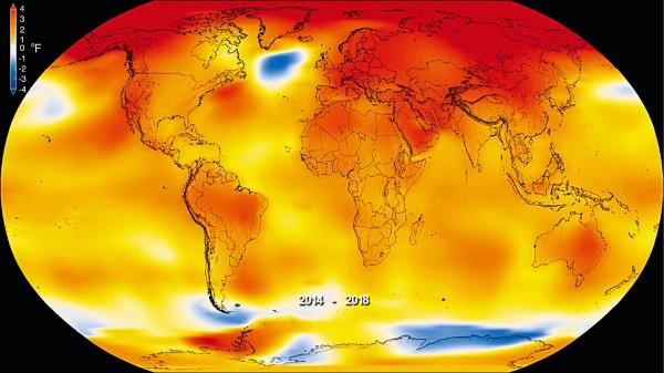 自全球開始記錄氣溫以來,最熱年份全由最近4年包辦,2018年創下史上第四熱的紀錄。(美聯社)