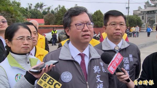 桃園市長鄭文燦直言,如果華航董事長何煖軒聽他建議與工會協商,罷工一定不會發生。(記者魏瑾筠攝)