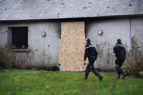 法國國會議長費朗(Richard Ferrand)的私人寓所日前遭人縱火。(法新社)