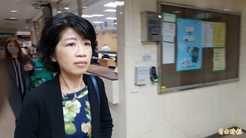 北市長柯文哲妻子陳珮琪今赴法院出庭。(記者溫于德攝)