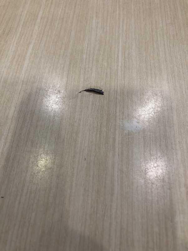 店內桌面被砸出裂痕。(民眾提供)