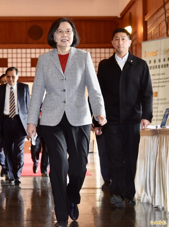 總統蔡英文本月11日出席2019中國台商春節聯誼活動,今天在臉書上稱讚台灣去年農產外銷到中國的總額破12億美元。(資料照,記者羅沛德攝)