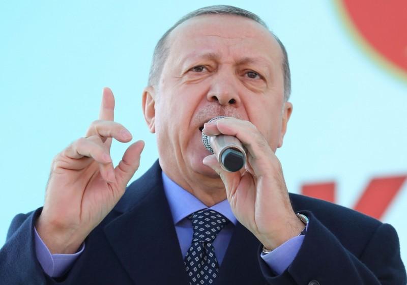 土耳其總統艾多根(Recep Tayyip Erdogan)說,土耳其為受壓迫民族挺身而出,卻被一些國家當作敵人,只因為土耳其面對暴行的時候拒絕保持沉默。(法新社資料照)
