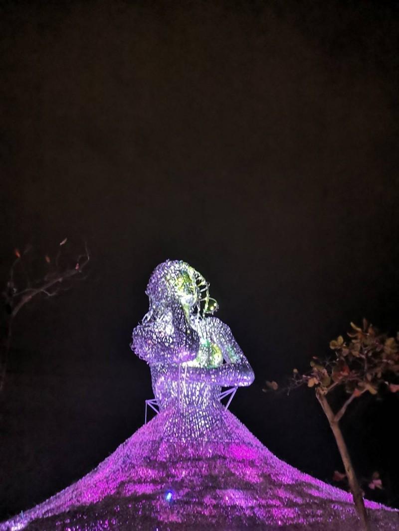 海之女神藝術燈。(圖由屏東縣政府提供)