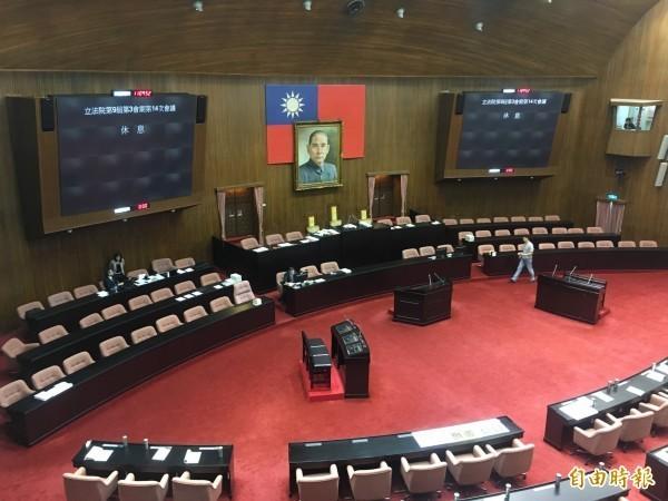 台灣立委缺席立法院院會的情況屢見不鮮。(資料照)