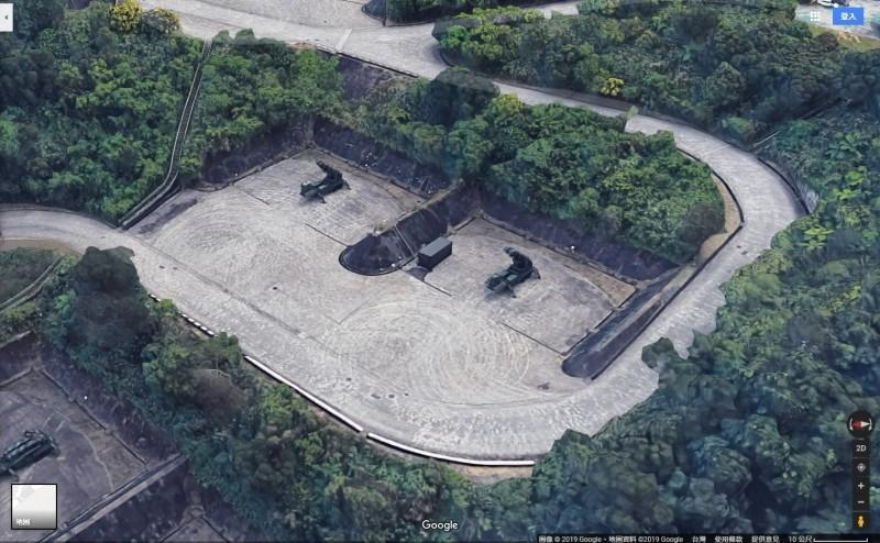 愛國者飛彈基地立體呈現。(圖擷取自Google地圖)