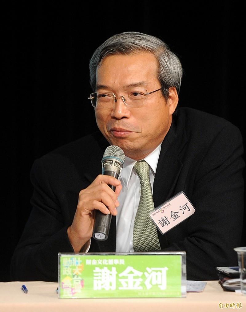 財訊傳媒董事長謝金河。(資料照)