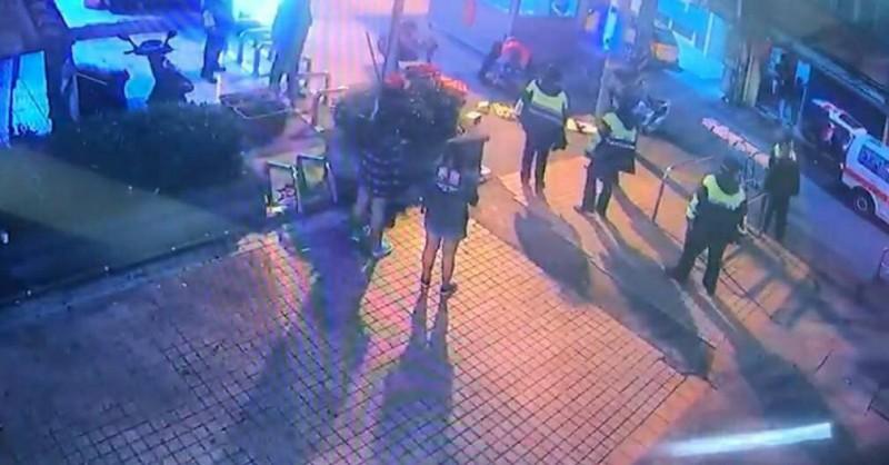 警方到場處理畫面。(記者魏瑾筠翻攝)