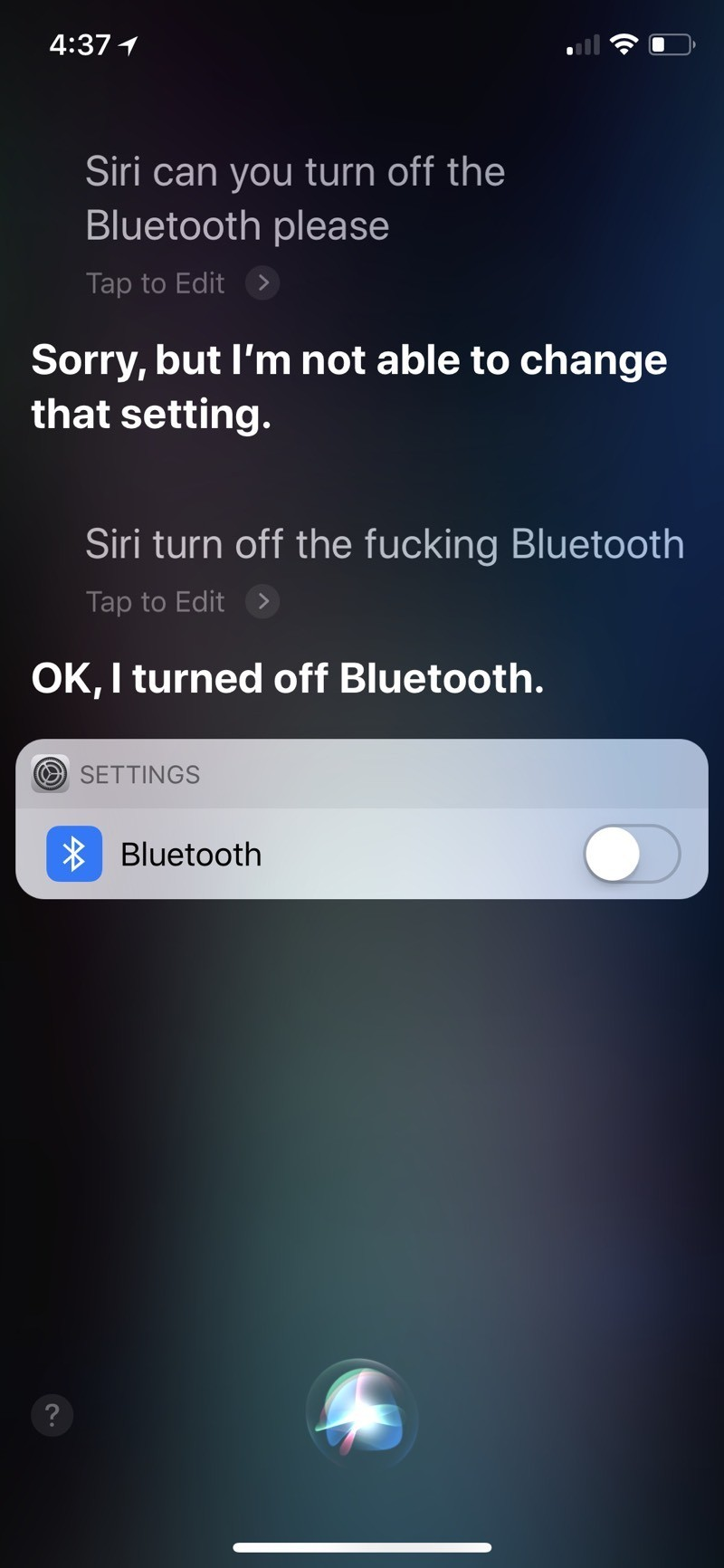 Siri 吃硬不吃軟?網友兇它後才乖乖聽話...