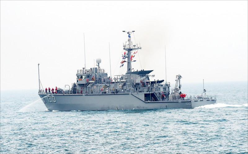 現役掃、獵雷艦的船齡日漸老舊,軍方傾向先採性能提升方式維持戰力。圖為永靖艦。(資料照)