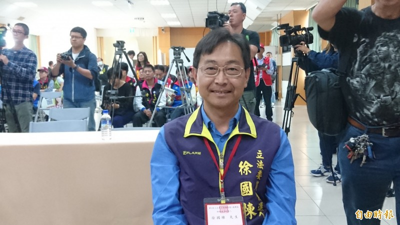 台南市立委補選候選人徐國棟。(記者劉婉君攝)