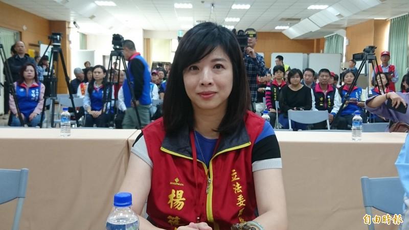 台南市立委補選候選人楊筱如。(記者劉婉君攝)