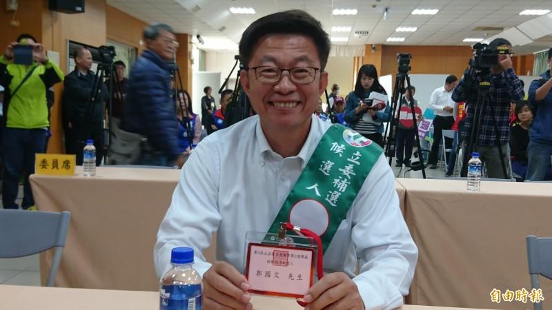 台南市立委補選候選人郭國文。(記者劉婉君攝)