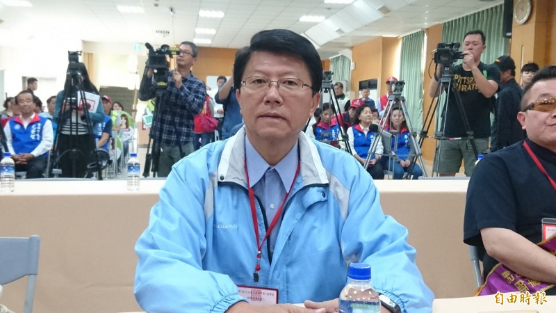 台南市立委補選候選人謝龍介。(記者劉婉君攝)