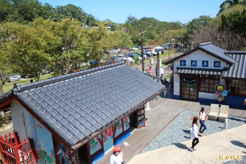 台鐵內灣支線上的合興車站有愛情車站美名,春天走訪最是浪漫。(記者黃美珠攝)