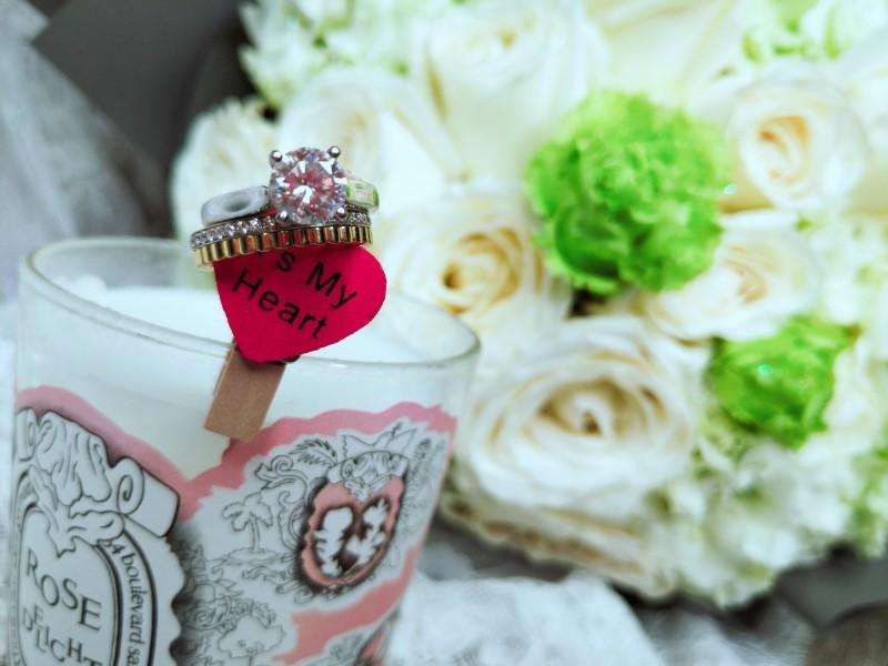 林姓女子遺失的鑽石及雙環兩枚結婚戒指。(圖:林女提供)