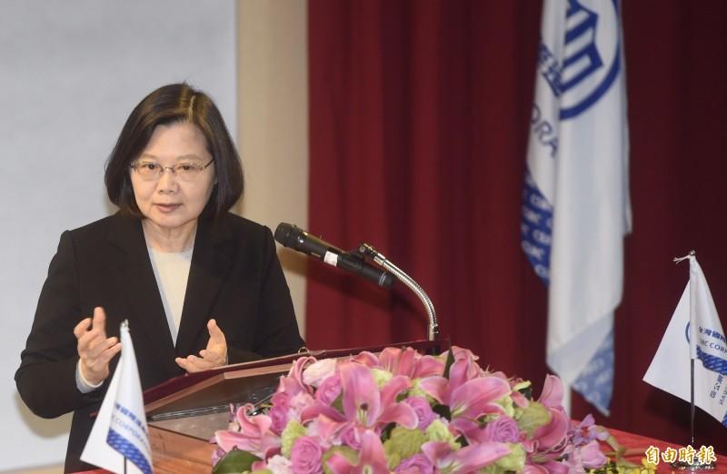 「國艦國造本土化供應商大會」25日舉行,總統蔡英文出席致詞。(記者簡榮豐攝)
