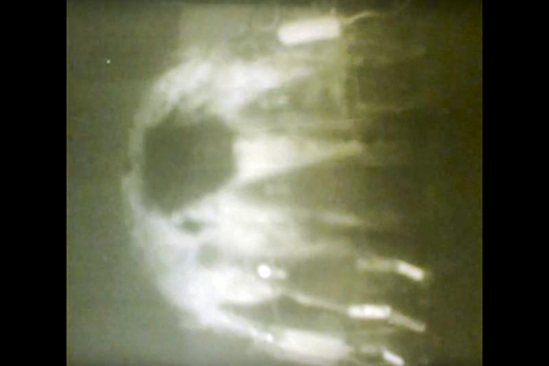 俄羅斯媒體公布「波賽頓」在水中的發射影片。(美聯社)