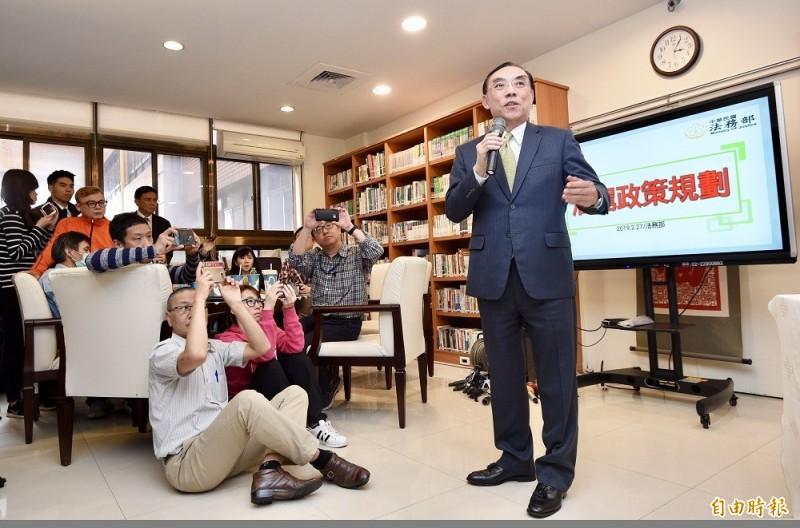 法務部長蔡清祥宣示,酒駕再犯致死最重可處死刑。(記者羅沛德攝)