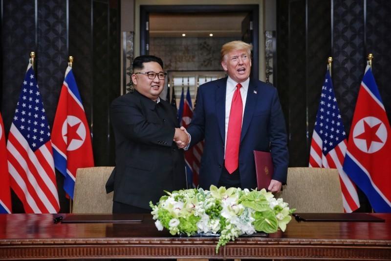 美國總統川普和北韓領導人金正恩27、28日在越南河內進行第2次高峰會。(歐新社)