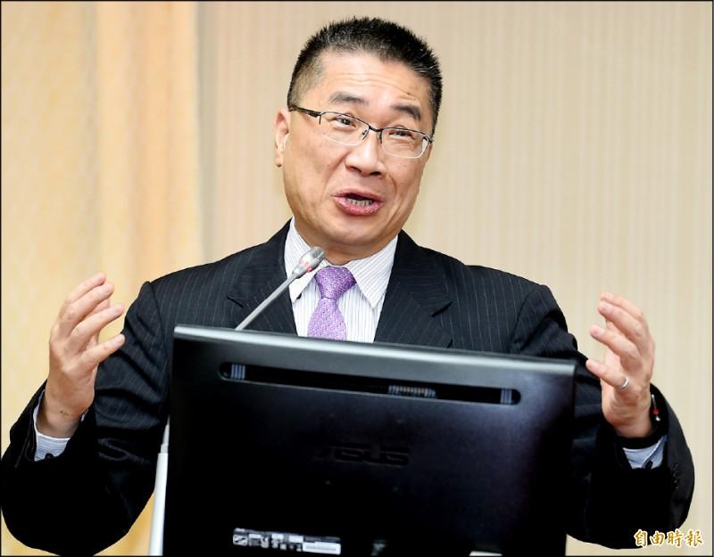 內政部長徐國勇昨赴立院內政委員會報告並備詢。(記者朱沛雄攝)