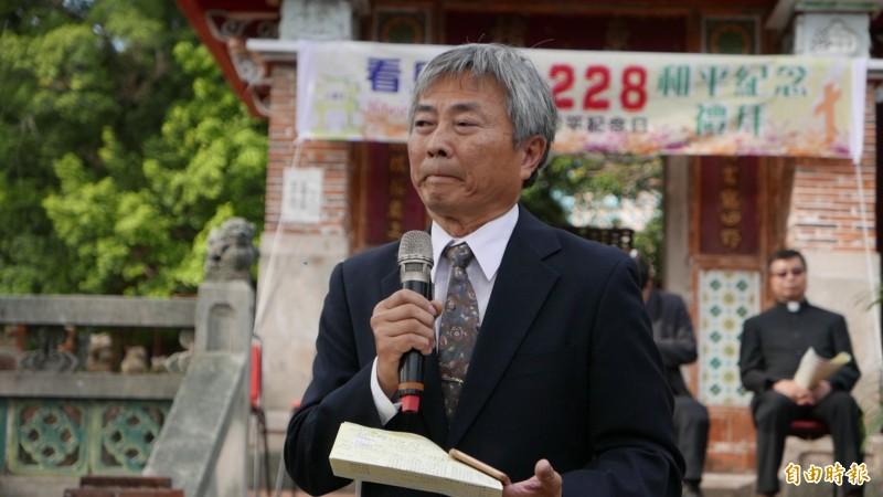 楊澤民指228紀念不該流於形式,期盼有加害人或其後代出面說明當時的真相。(記者蔡淑媛攝)