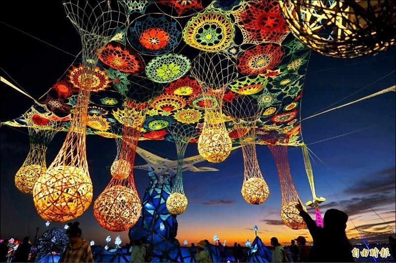 台灣燈會主燈區的燈飾。(資料照)